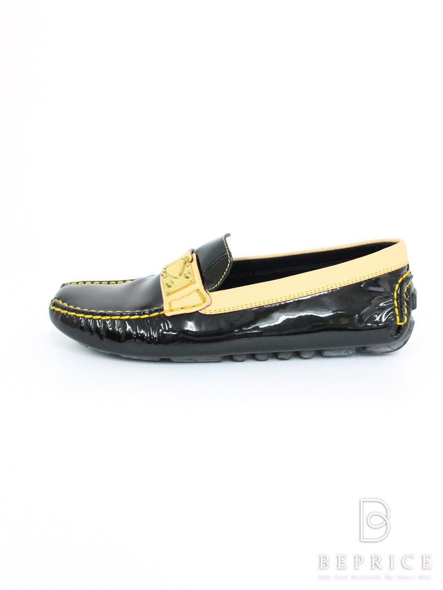 LOUIS VUITTON ルイヴィトン 靴 ローファー ドライビングシューズ エナメル【36】【Aランク】【中古】tn291119t