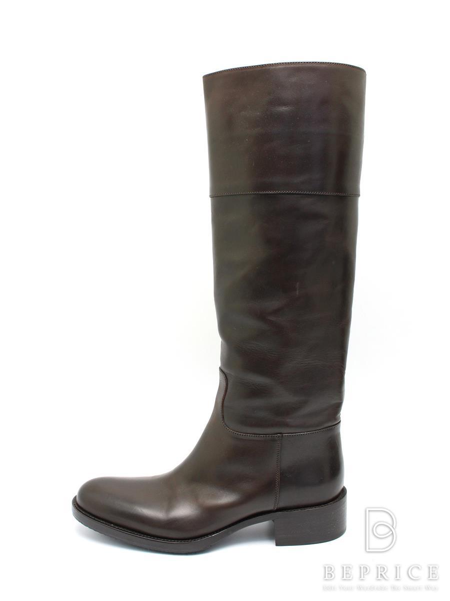 SARTORE サルトル ブーツ ロング レザー 【EUR35.5】【Sランク】【中古】tn291116t