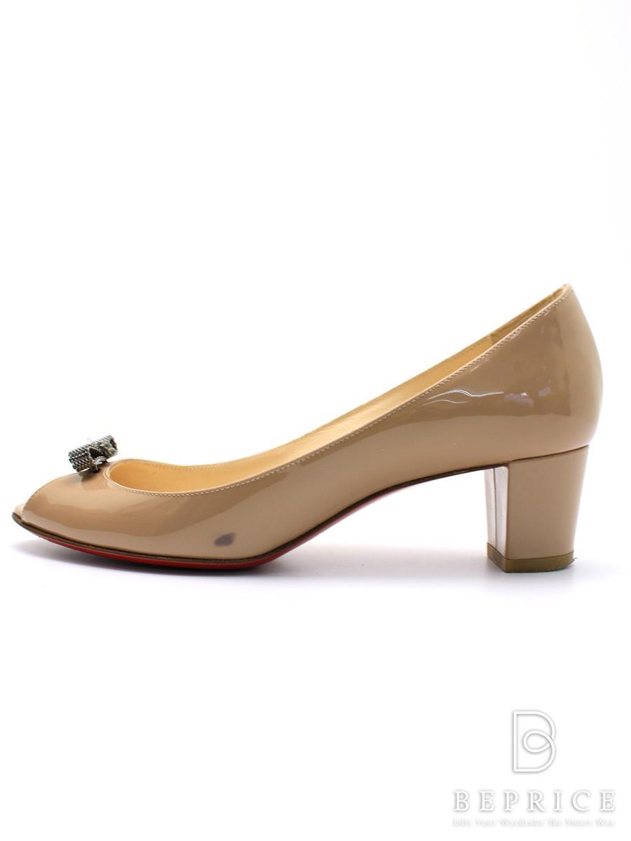 Christian Louboutin クリスチャンルブタン 靴 パテントカーフパンプス YOP NODO 45【37】【Bランク】【中古】gz291221t