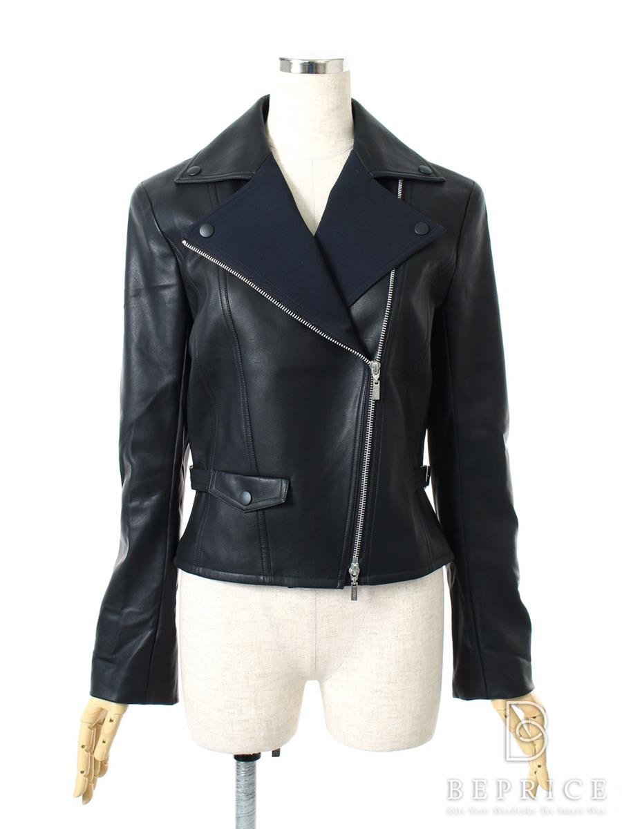 FOXEY NEWYORK フォクシー ジャケット SCULPTED LEATHER JACKET COLLECTION【38】【Aランク】【中古】tn300107t