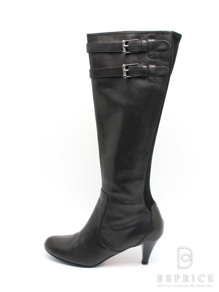 Cole Haan コールハーン 靴 ロングブーツ ブラック【8B】【Aランク】【中古】tn300121t