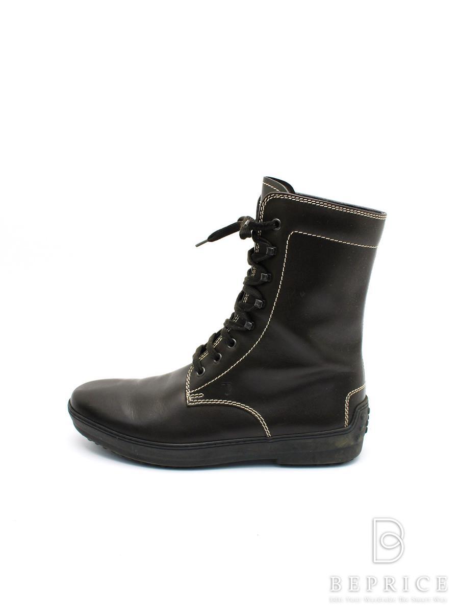 TODS トッズ 靴 レースアップ ブーツ【メンズ】【6】【Bランク】【中古】tn300121t