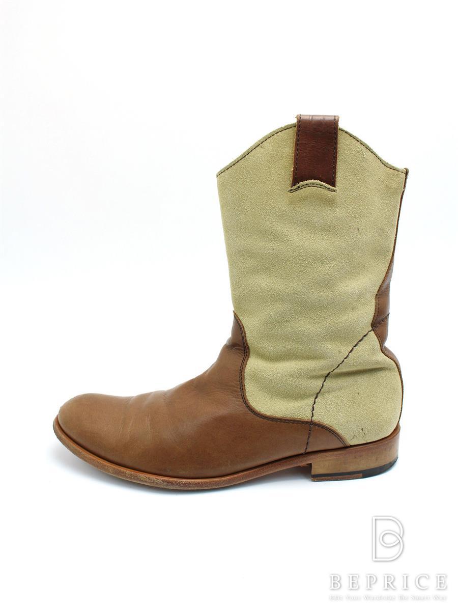 Padrone パドローネ 靴 ショートブーツ スエード【37】【Bランク】【中古】tn300121t