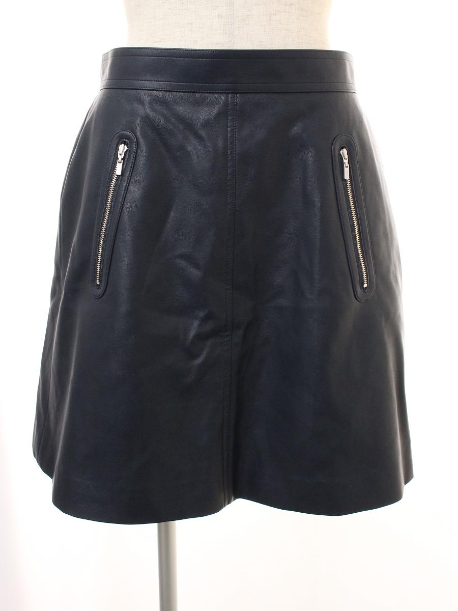 FOXEY NEWYORK フォクシー スカート Leather Skirt Collection【42】【Aランク】【中古】ic300125t