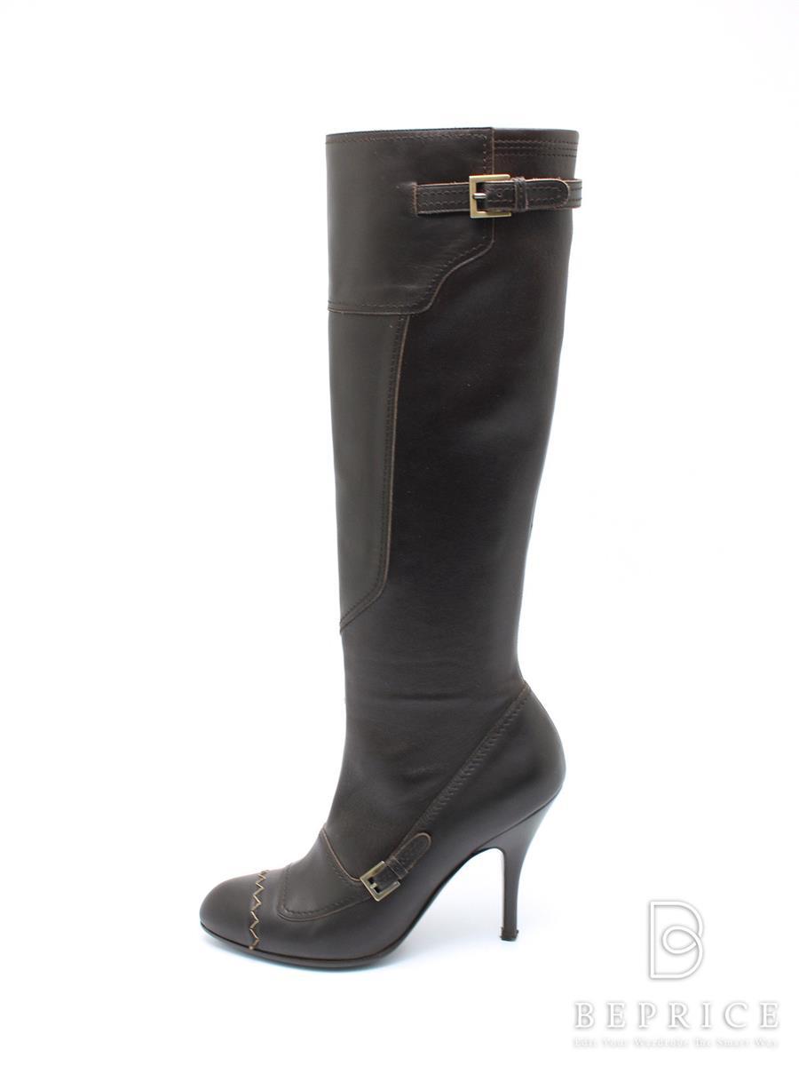 Ferragamo フェラガモ 靴 ロングブーツ ベルト【6C】【Aランク】【中古】tn300125t