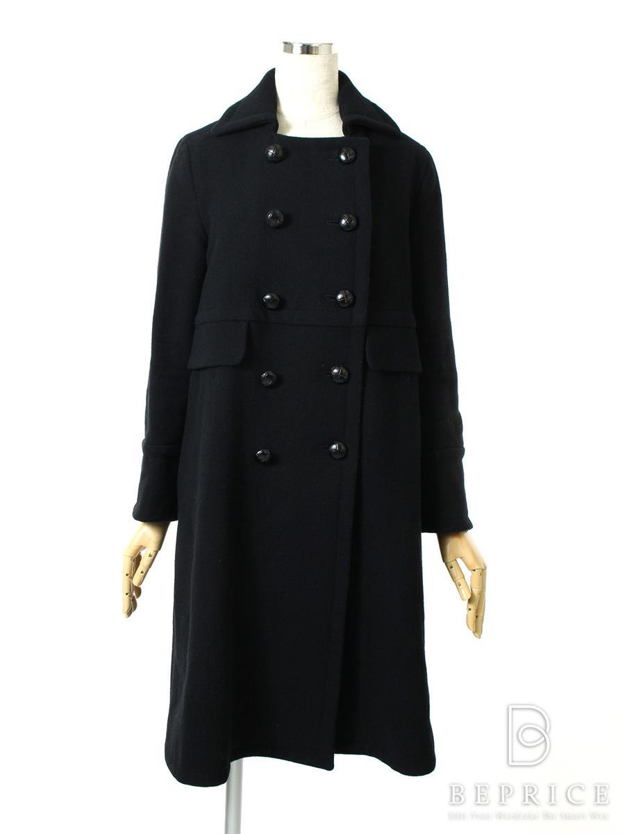 Deuxieme Classe ドゥーズィエムクラス ロングウールコート 衿付【Bランク】【中古】tn300128t