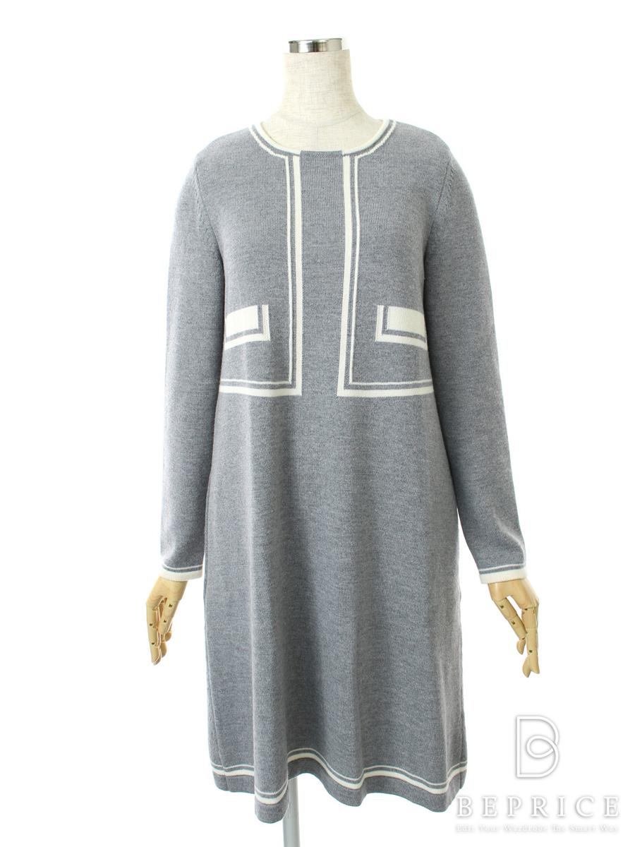 FOXEY BOUTIQUE フォクシー ワンピース Knit Dress Trompe Loeli【40】【Aランク】【中古】tn300204t