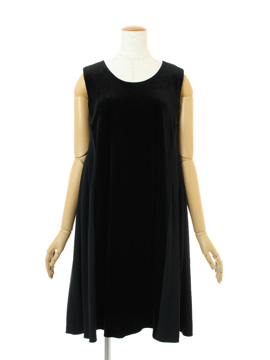VELOUR NOIR by FOXEY フォクシー ワンピース Back Tuck Dress ベロア【40】【Aランク】【中古】ic300215t