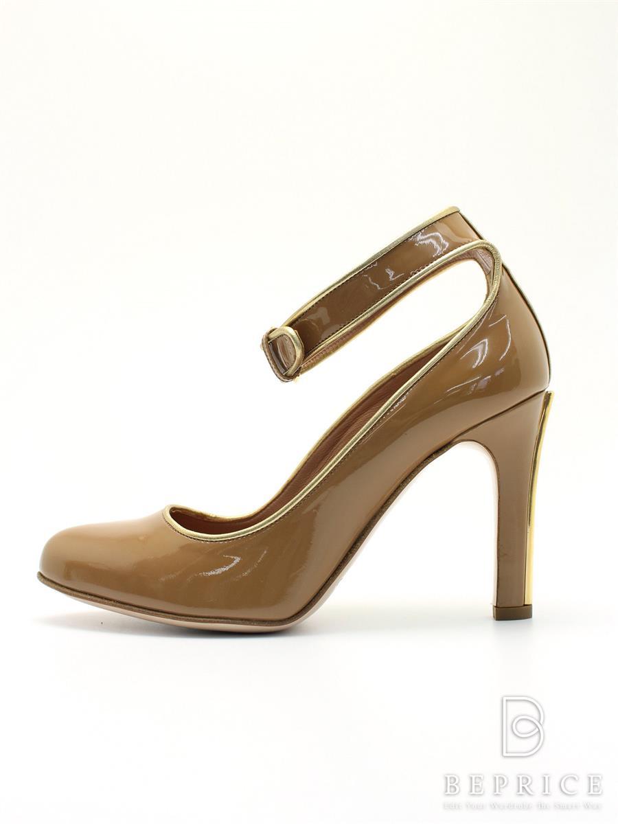 MIUMIU ミュウミュウ 靴 パンプス ベルト エナメル【35.5】【Aランク】【中古】tn300215t