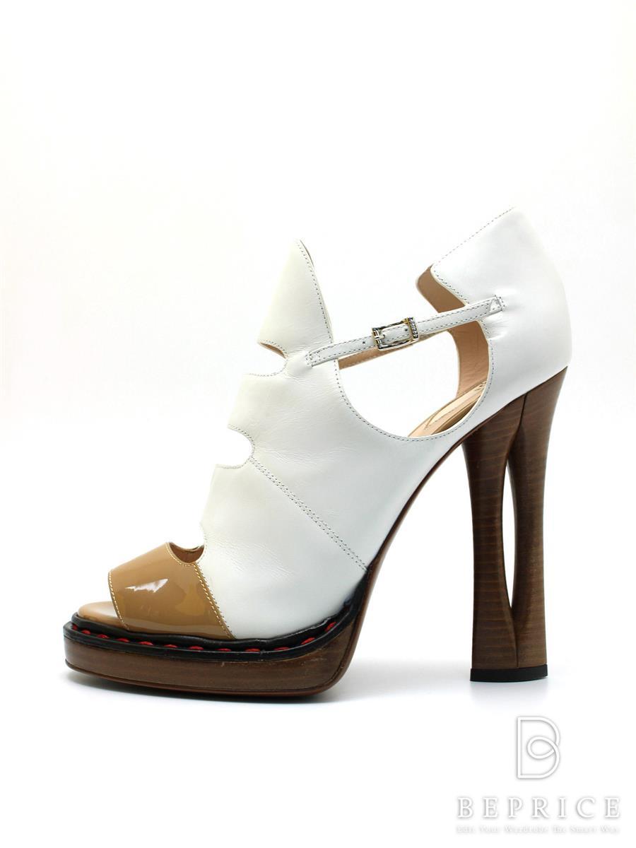 FENDI フェンディ 靴 パンプス ヒール レザー【40】【Sランク】【中古】tn300222t
