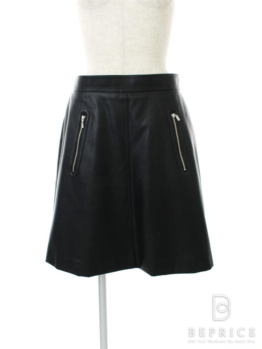 FOXEY NEWYORK フォクシー スカート フェイクレザー Collection【42】【Aランク】【中古】tn300225t