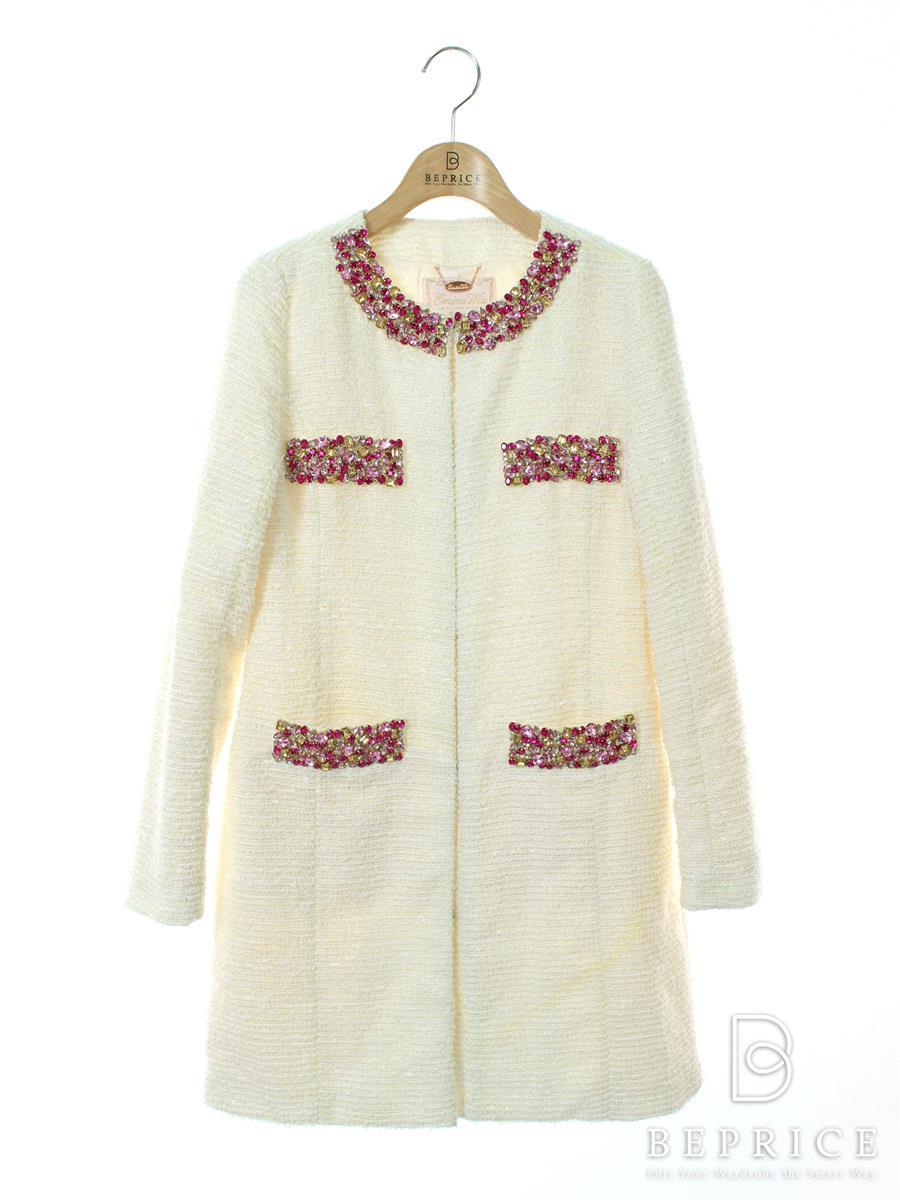 EmiriaWiz エミリアウィズ コート ツイード風 装飾【S】【Bランク】【中古】tn300225t