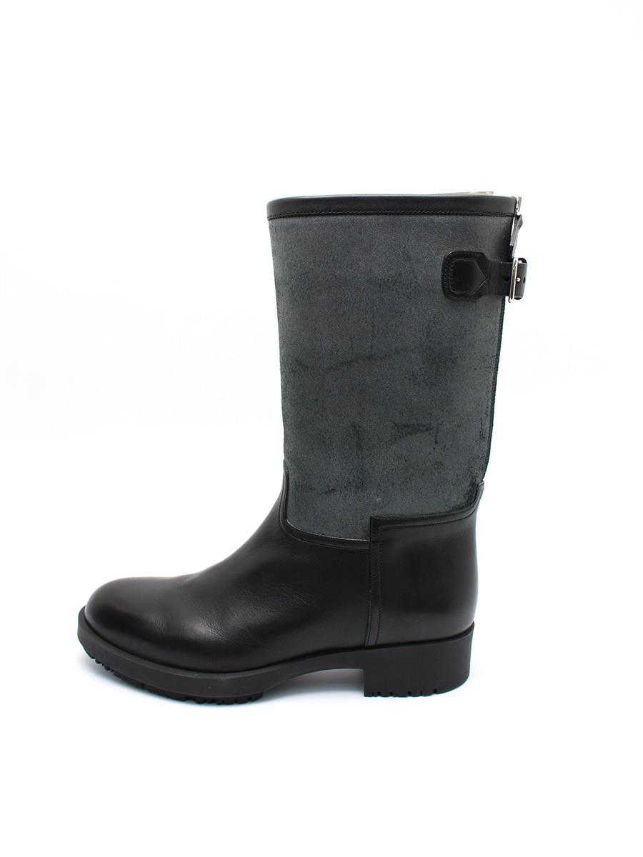 HERMES エルメス 靴 ブーツ レザー ジップアップ【38】【Aランク】【中古】tn300301t