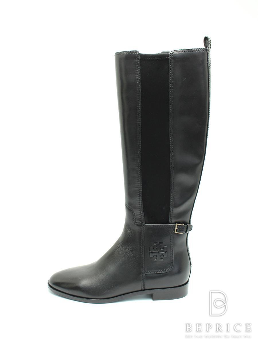 TORY BURCH トリーバーチ 靴 ロングブーツ レザー【8M】【Aランク】【中古】tn300304t
