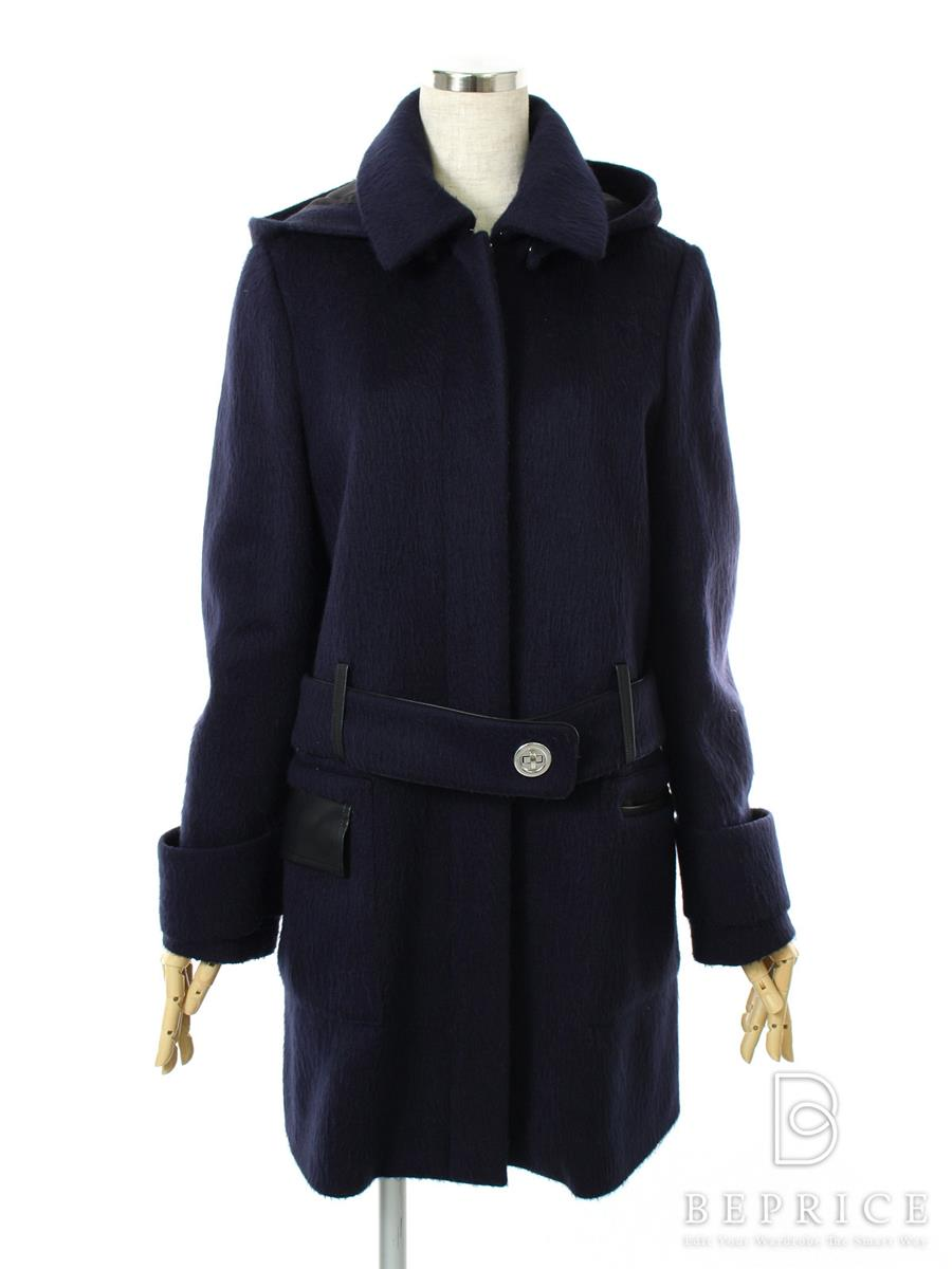 FOXEY NEWYORK フォクシー コート BONDED MOHAIR DUFFLE COAT Collection【40】【Aランク】【中古】tn300308t