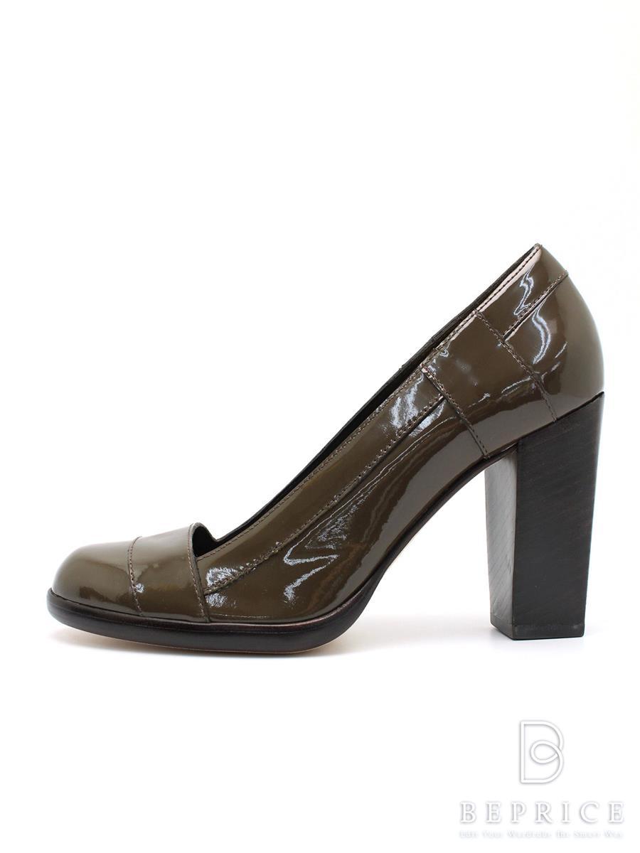 Cole Haan コールハーン 靴 パンプス エナメル ウッドヒール【6.5B】【Aランク】【中古】tn300315t