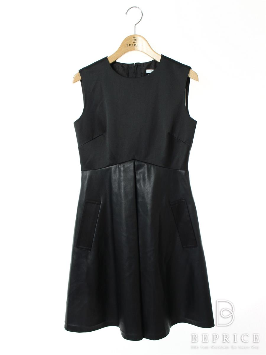 FOXEY NEWYORK フォクシー ワンピース COLLECTION Leather Combo DRESS【38】【Aランク】【中古】tn300329t