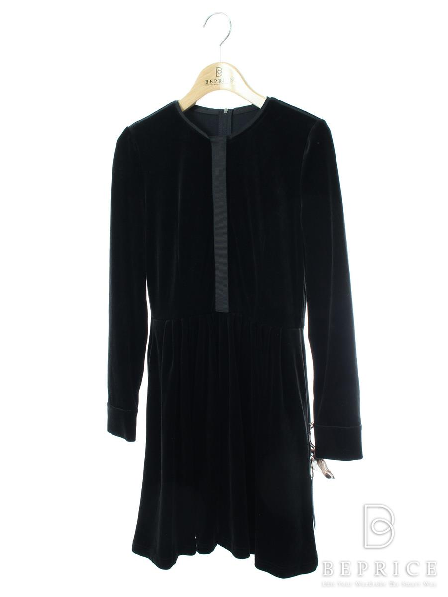 VELOUR NOIR by FOXEY フォクシー ワンピース Velour Placket ベロア【38】【Aランク】【中古】tn300401t