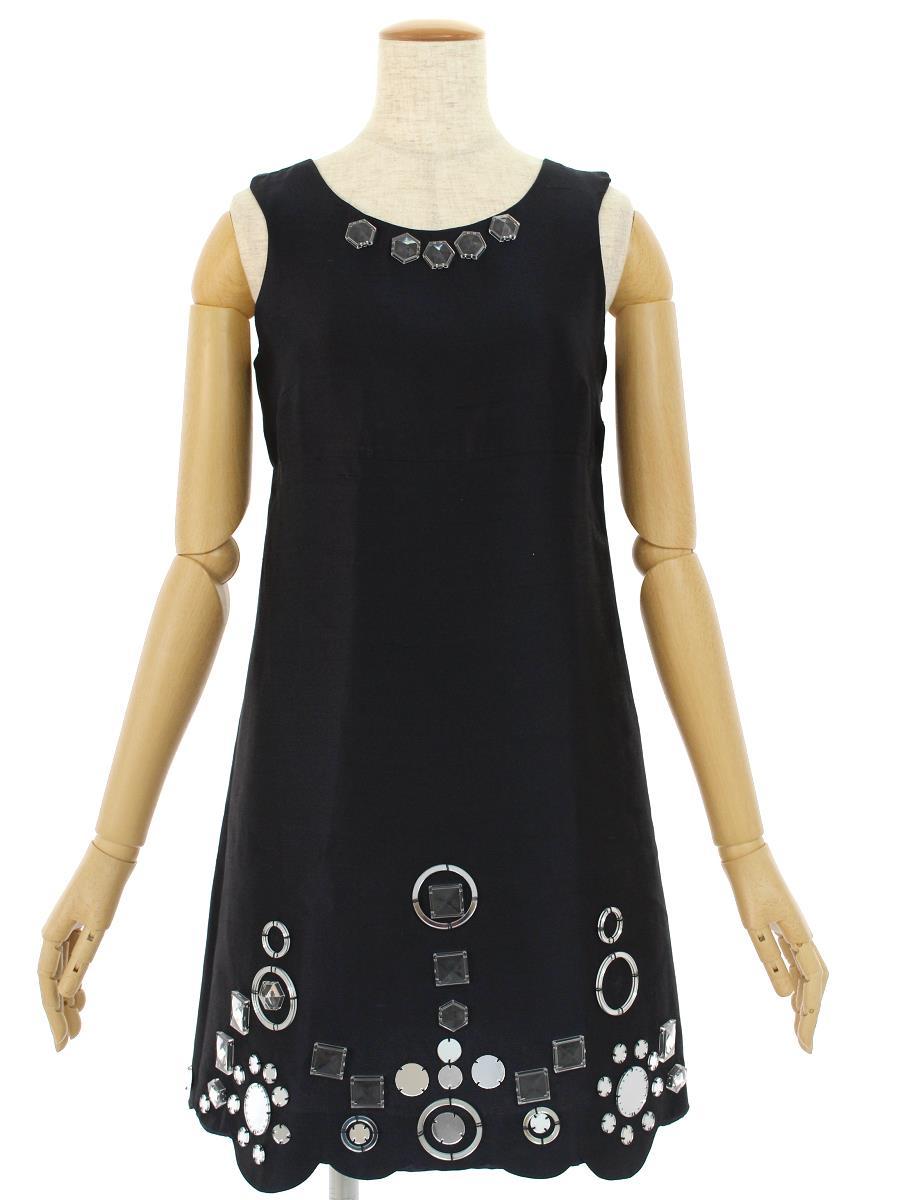 MIUMIU ミュウミュウ ワンピース ドレス 装飾【40】【Aランク】【中古】ic300426t