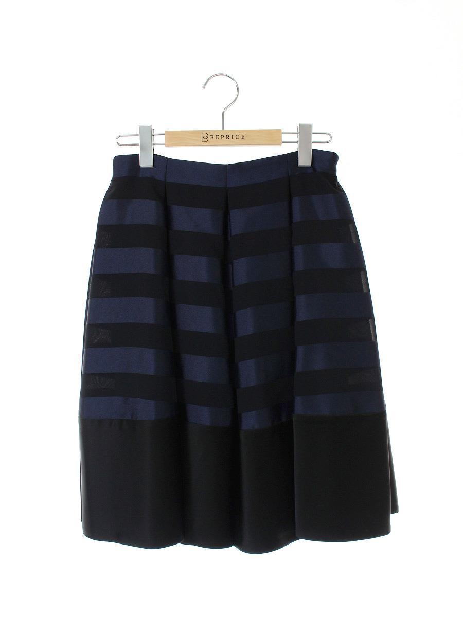FOXEY NEWYORK フォクシー スカート Bright Border Skirt【40】【Aランク】【中古】tn300429t