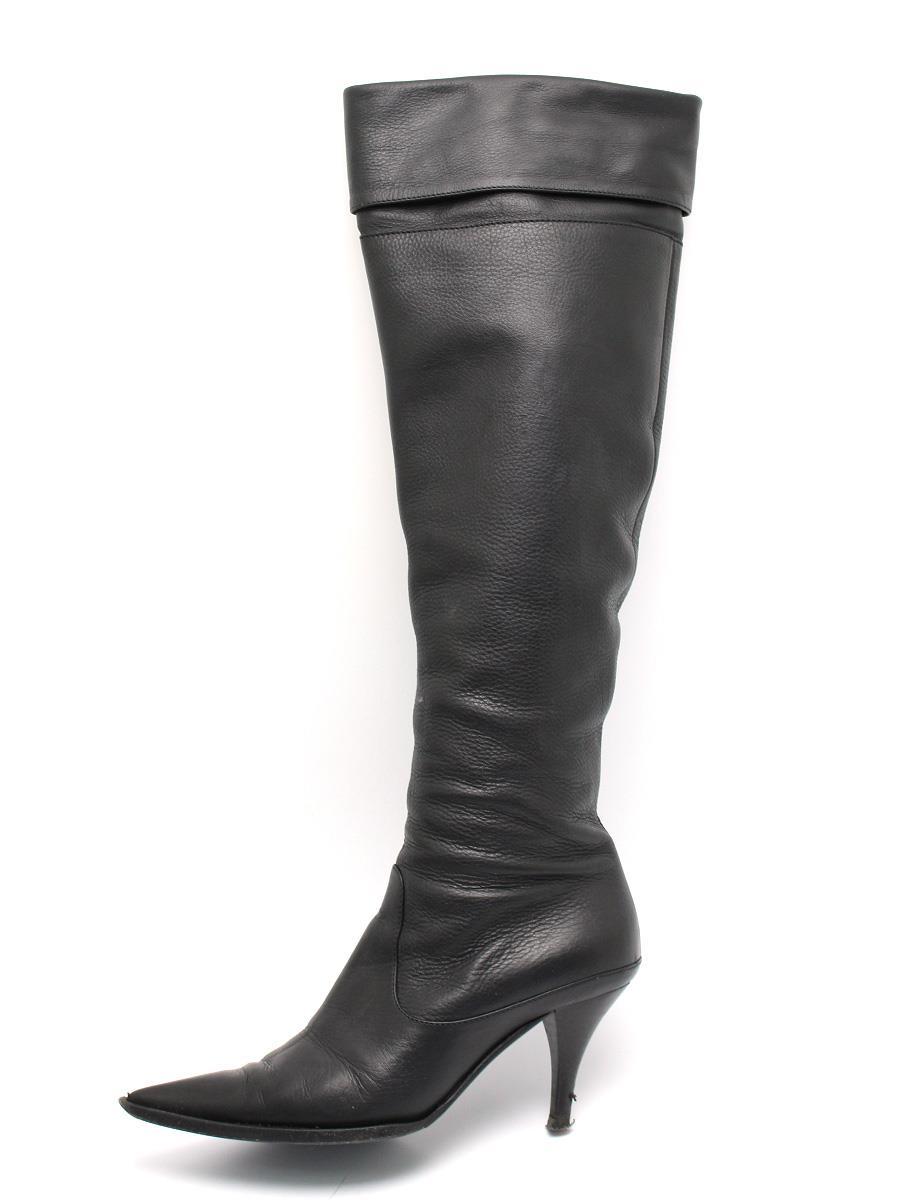 sergio rossi セルジオロッシ 靴 ロングブーツ レザー【35.5】【Bランク】【中古】tn300503t