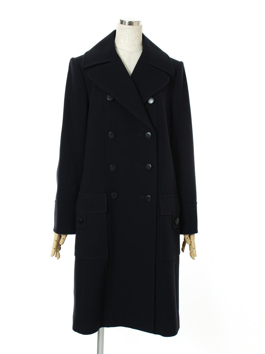 FOXEY BOUTIQUE フォクシー ロングコート ダブル 【42】【Aランク】【中古】tn300513t