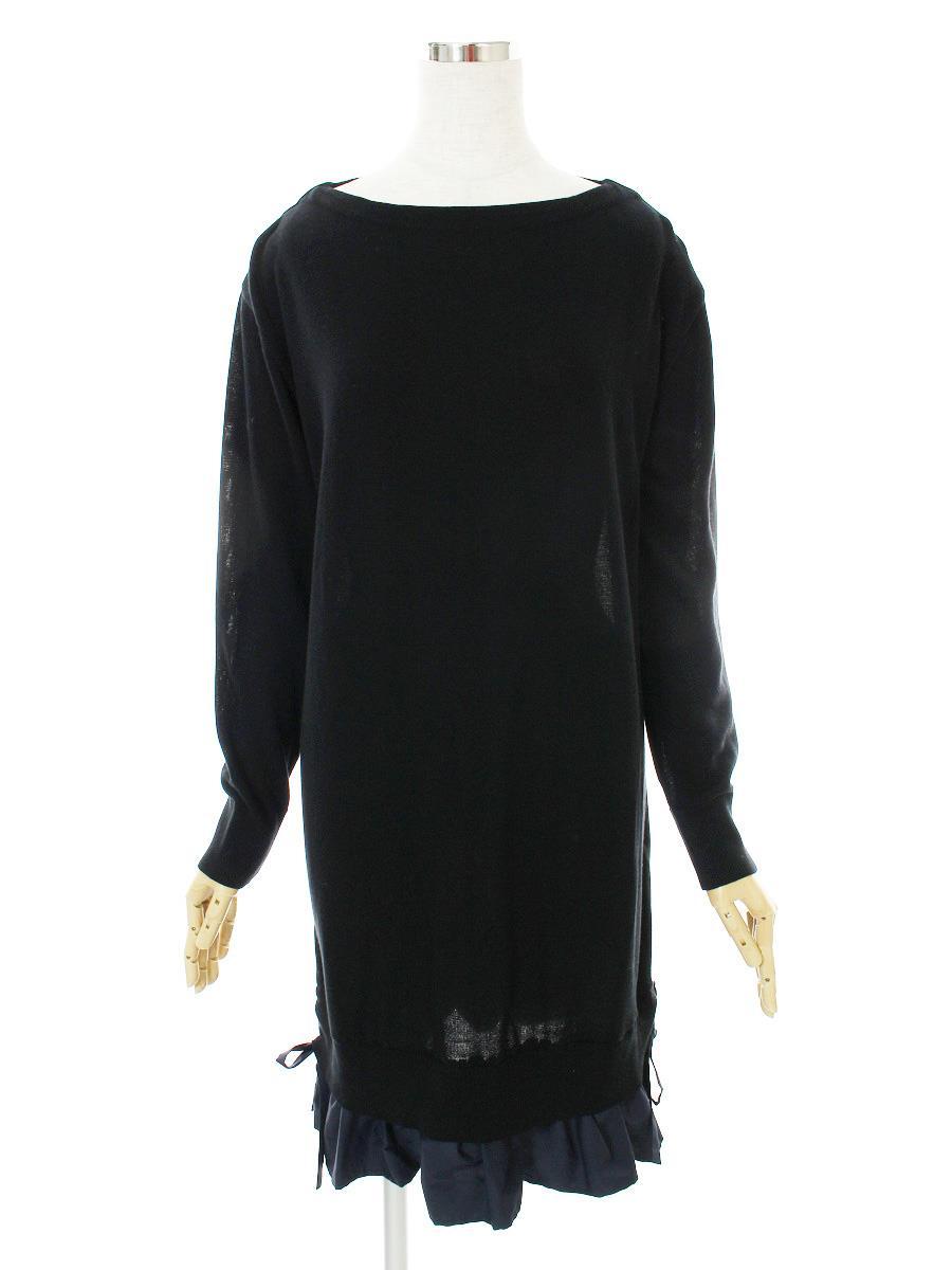 FOXEY NEWYORK フォクシー ワンピース 長袖 ニット 37443 Dress Collection【42】【Aランク】【中古】tn300513t