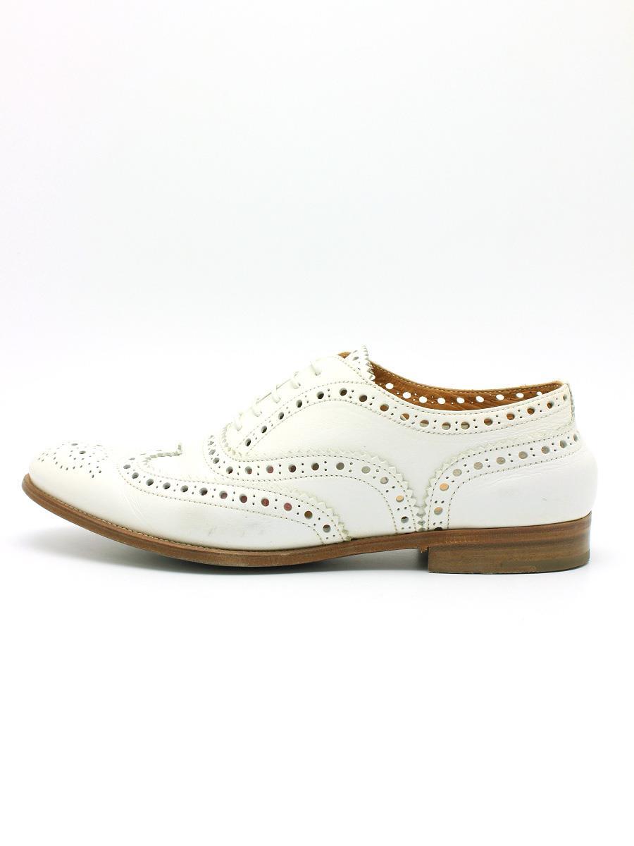 Church チャーチ 靴 ウィングチップ メダリオン BURWOOD【38】【Aランク】【中古】tn300520t
