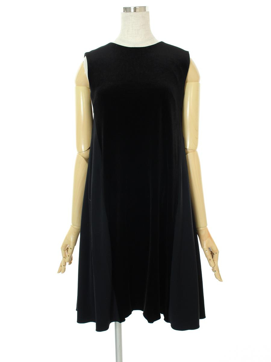 VELOUR NOIR by FOXEY フォクシー ワンピース Back Tuck Dress ベロア【38】【Aランク】【中古】gz300531t