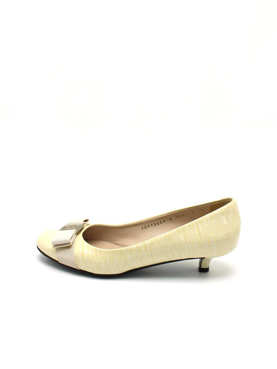 Ferragamo フェラガモ 靴 パンプス ヴァラ リボン【6D】【Aランク】【中古】tn300531t