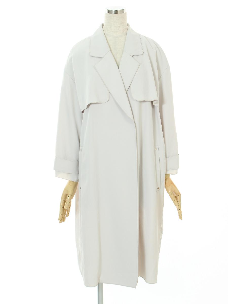 ランバンオンブルー コート 衿付き 38【Bランク】 【中古】tn300621