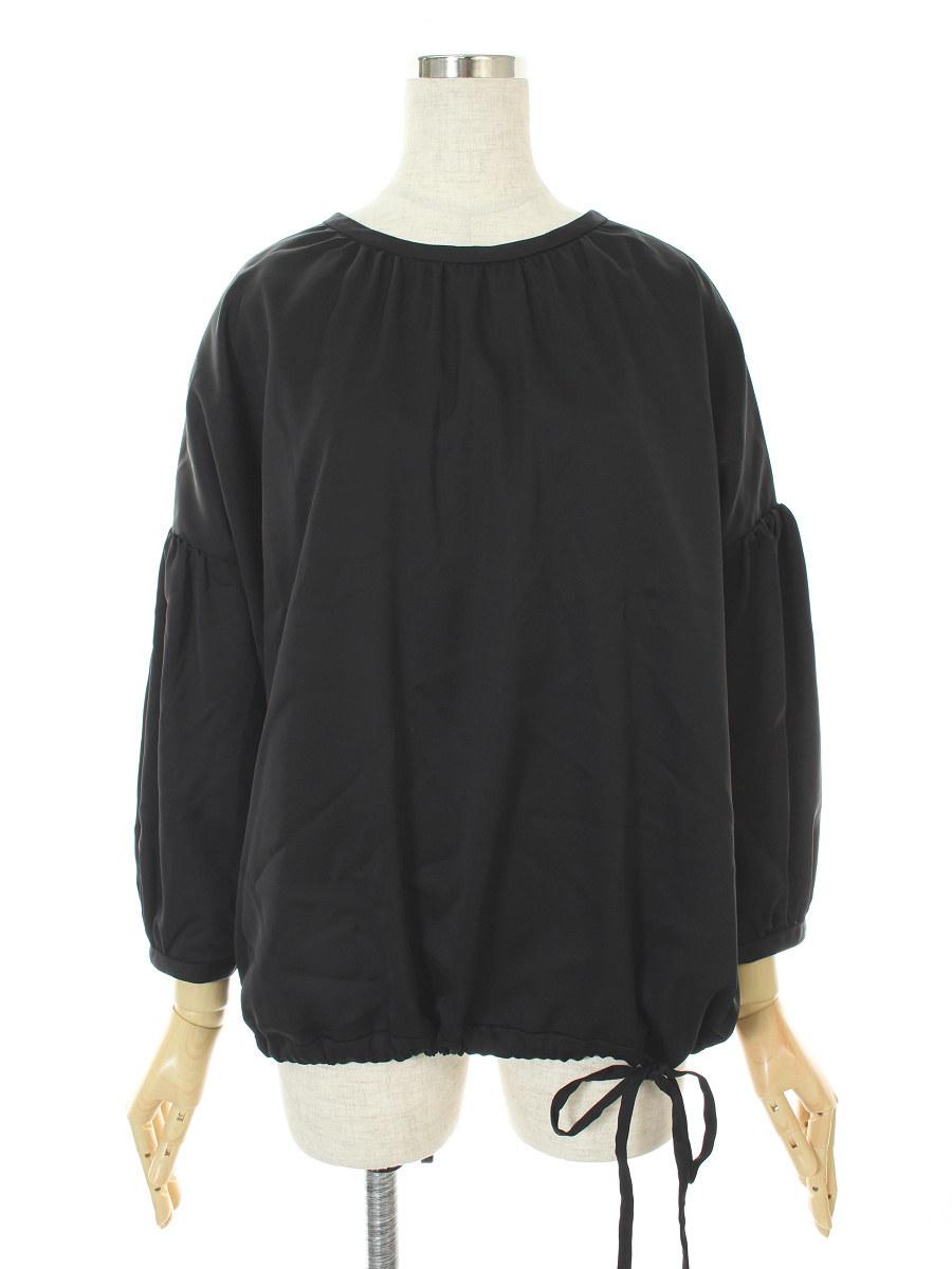 フォクシーニューヨーク Tシャツ カットソー Cupra Satin Novelty Sleeve Top 長袖 40【Aランク】【中古】tn300624