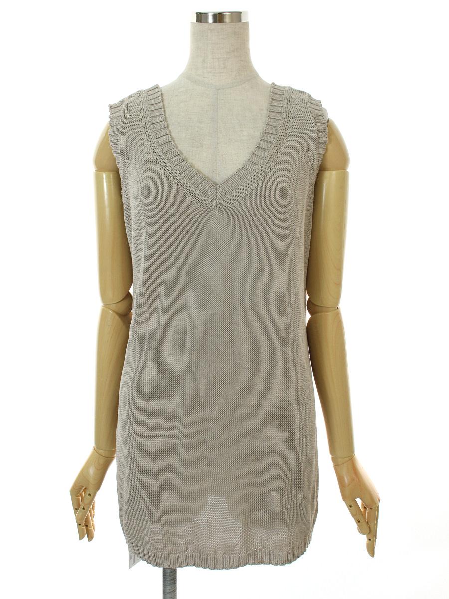 フォクシーブティック Tシャツ カットソー サンドセーター ノースリーブ 42【Aランク】【中古】tn300628