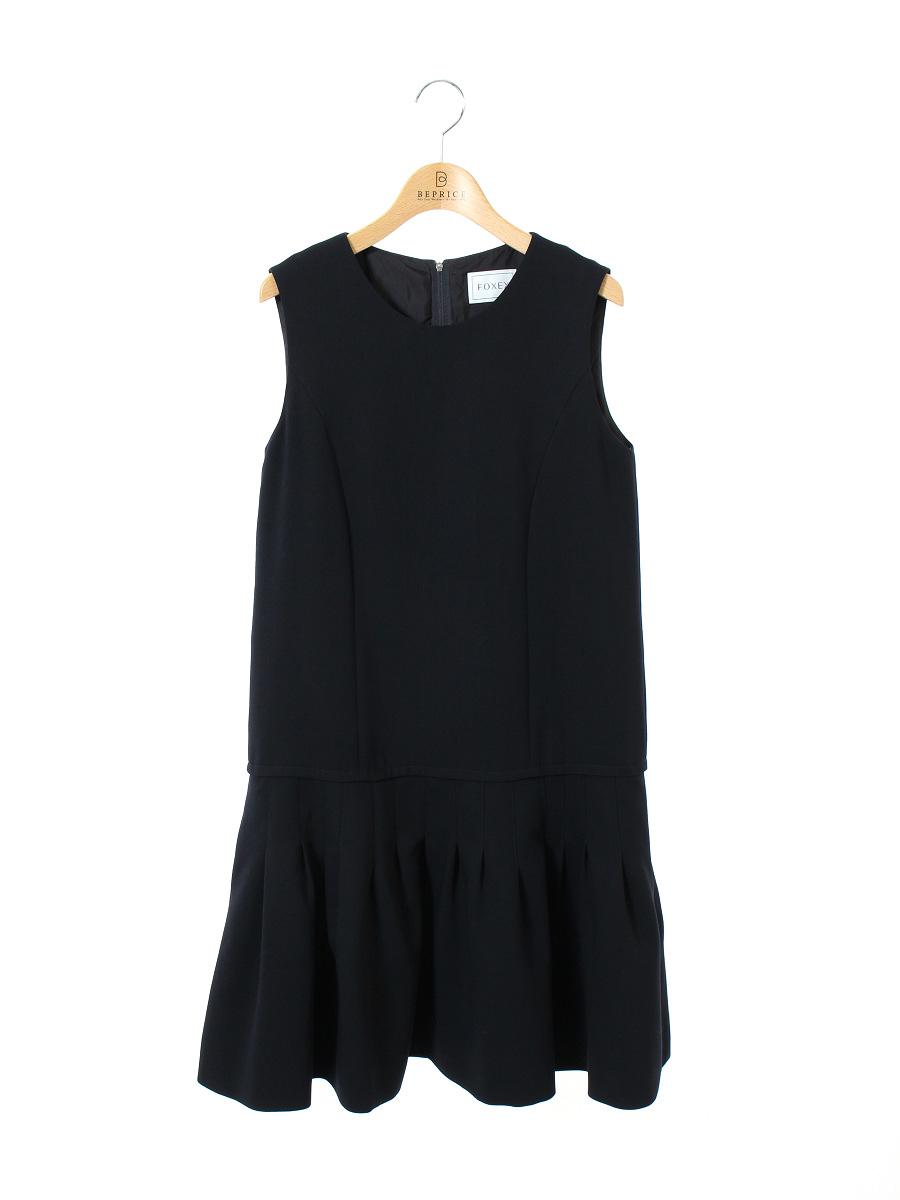 フォクシーブティック ワンピース Dropped Waist Pintuck Dress ノースリーブ 40 Bランク tn300802IYvmfgb76y