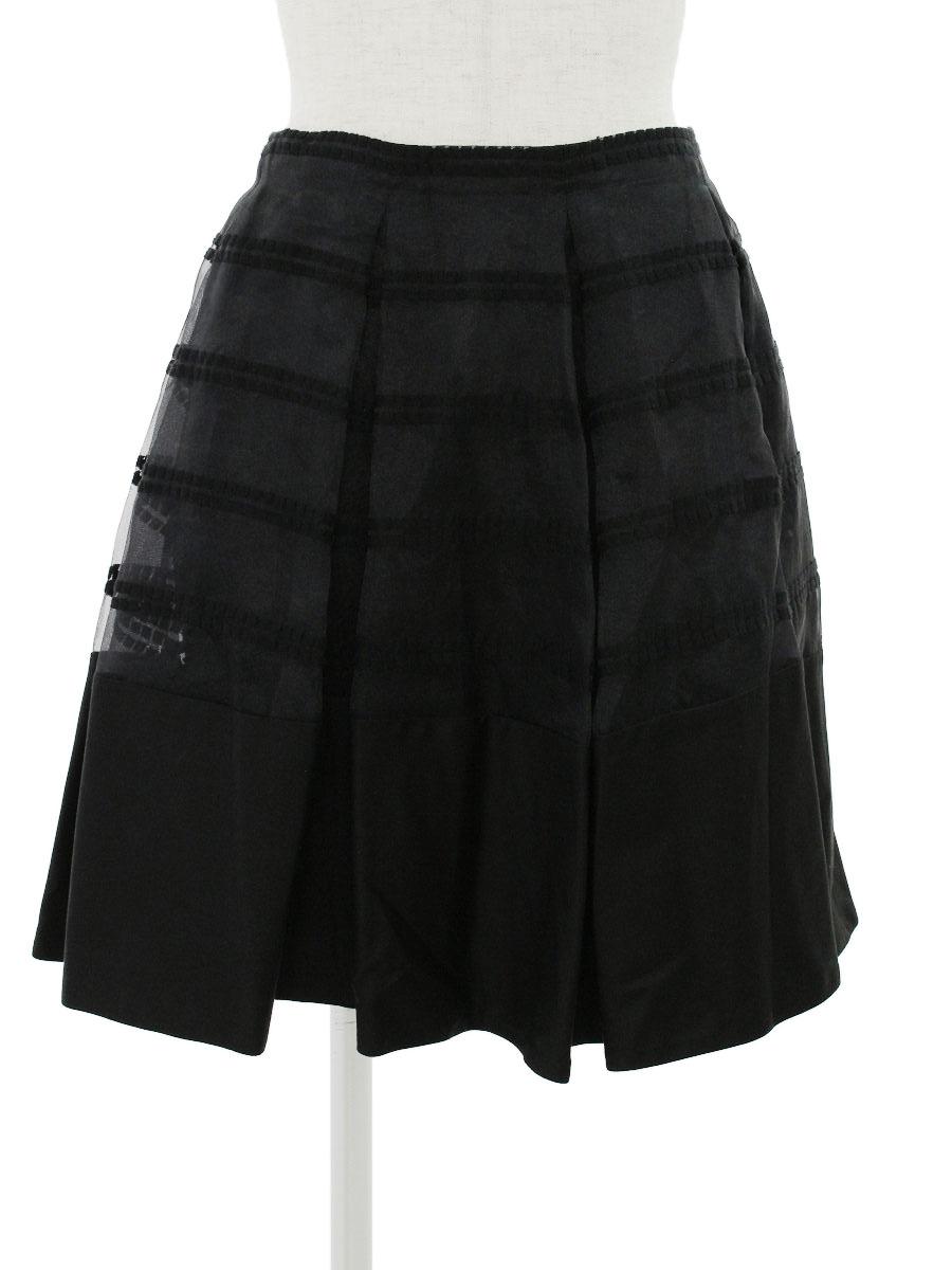 フォクシーニューヨーク スカート 34844 Pleat Short Skirt 38【Aランク】【中古】tn301101