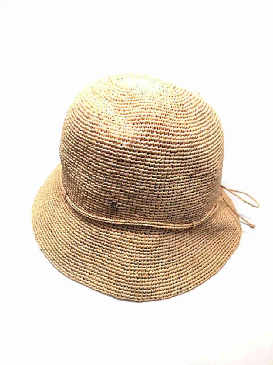 ヘレンカミンスキー 麦わら帽子 ラフィア ハット【Aランク】【中古】tn301108
