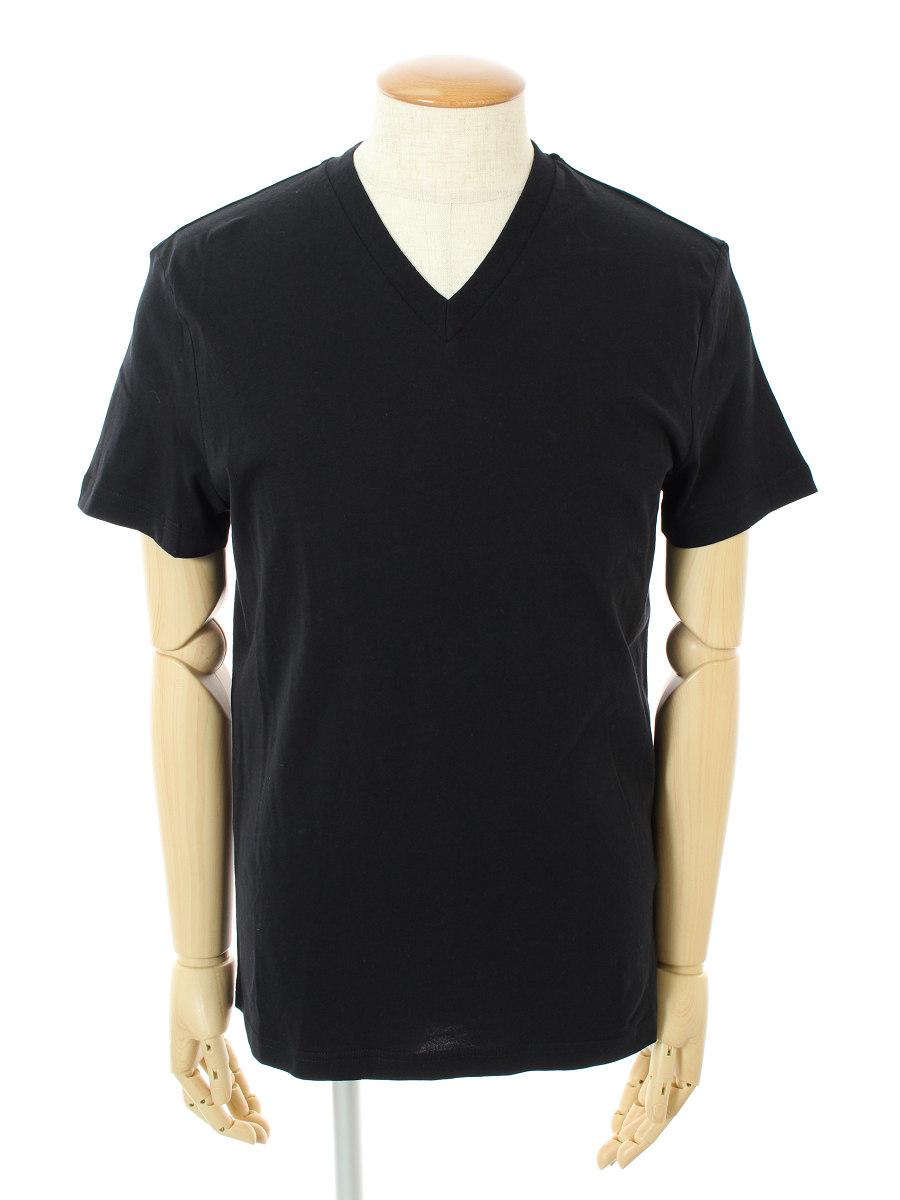 プラダ Tシャツ カットソー Vネック 半袖 M【Aランク】【中古】tn301118