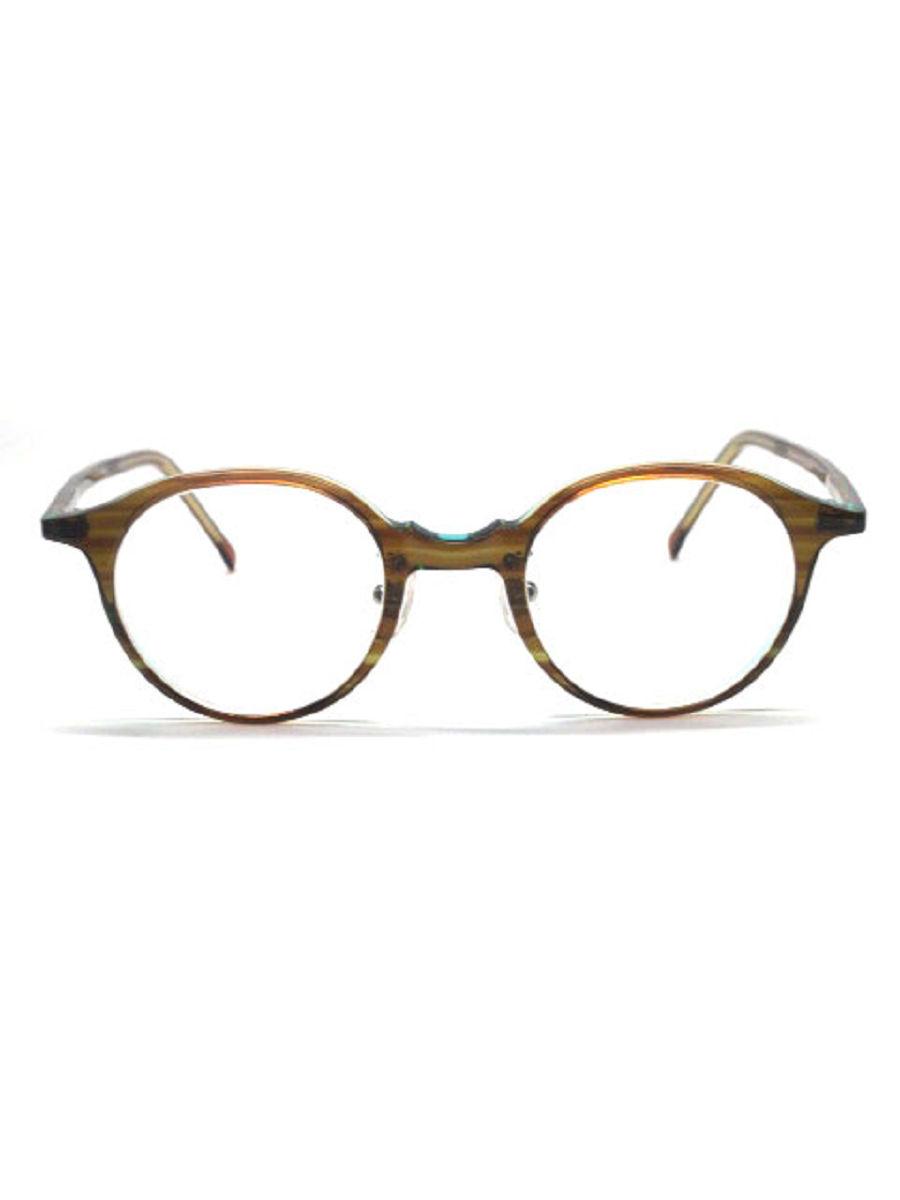 白山眼鏡店 メガネ ボストン アセテート BOSTON-N【Aランク】【中古】tn310110