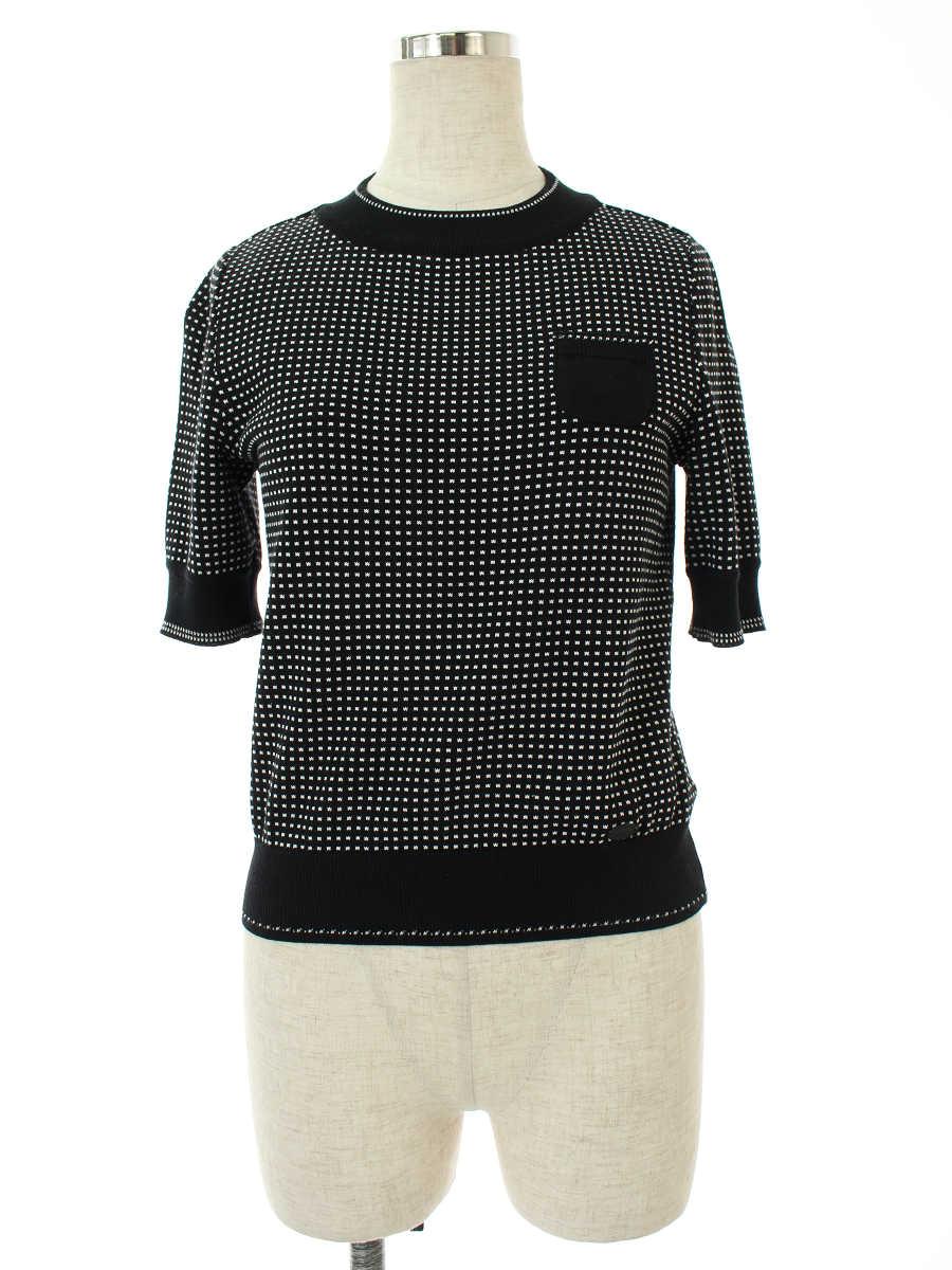 フォクシーブティック ニット セーター 35235 Knit Tops Planet 半袖 38【Aランク】【中古】tn190207