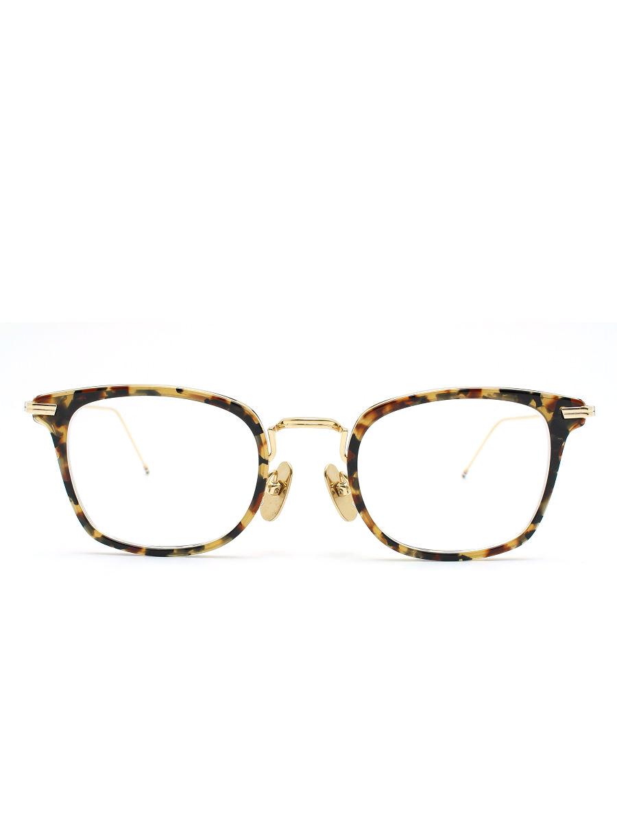 トムブラウン メガネ TBX905-49-02 度入り レンズ 眼鏡 べっ甲柄 フレーム 総柄【Aランク】【中古】tn190210