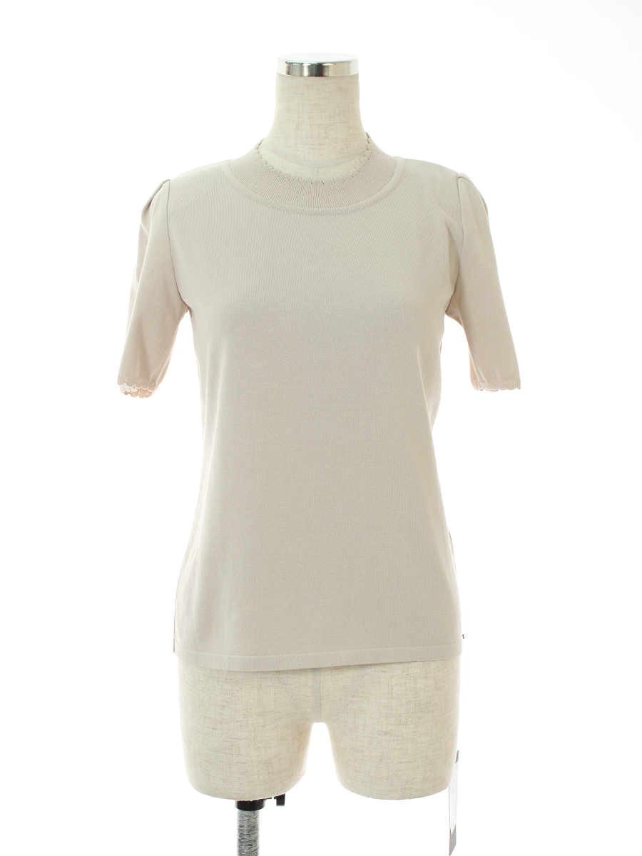 フォクシーブティック ニット セーター 39295 Knit Tops 無地 半袖 40【Sランク】 【中古】 tn190303