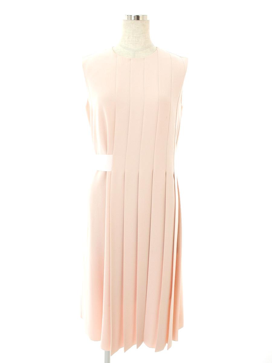 フォクシーニューヨーク ワンピース 35062 Asymmetrical Pleat Dress 無地 ノースリーブ 40【Bランク】 【中古】 tn190324
