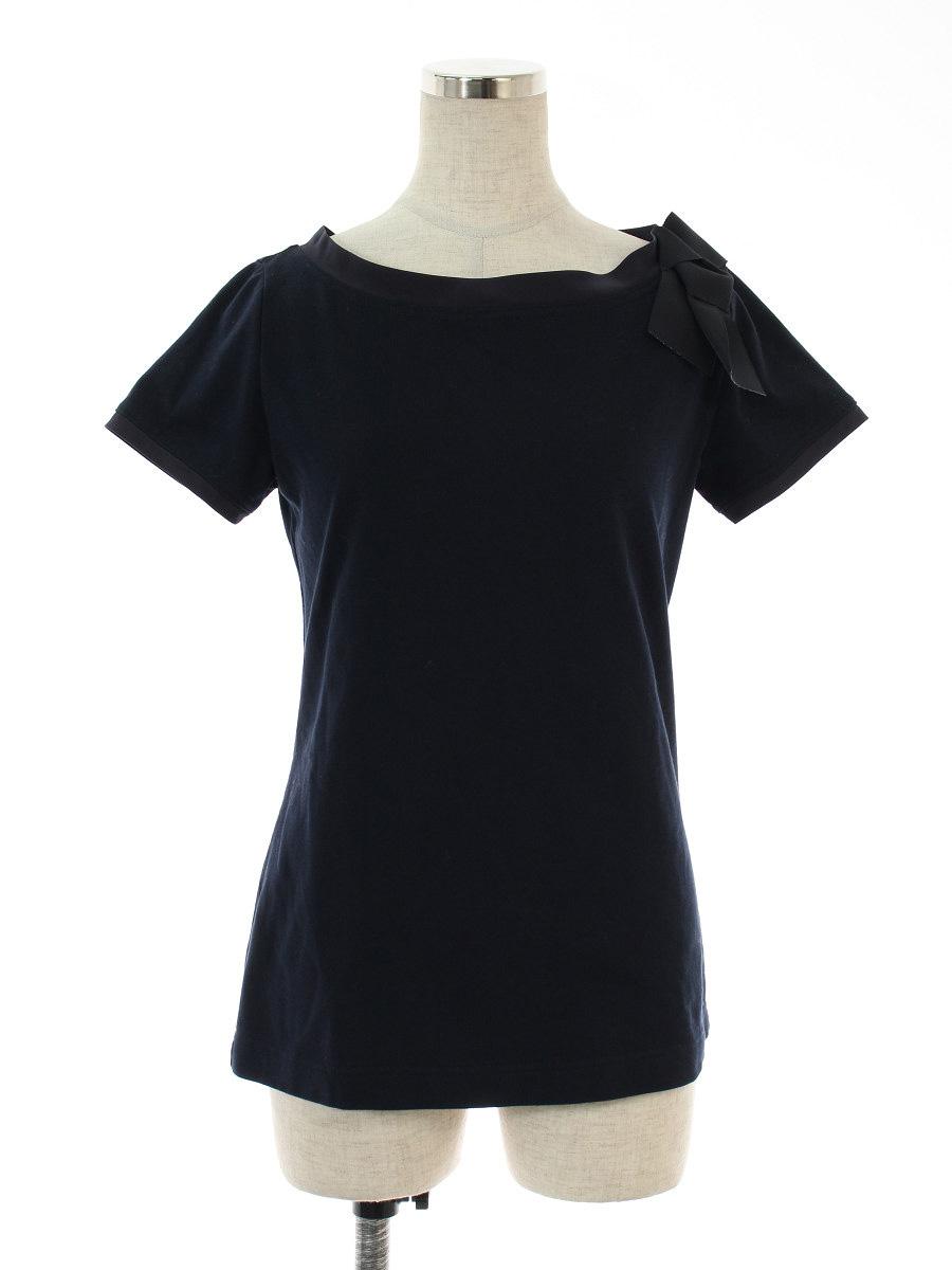 フォクシーニューヨーク Tシャツ カットソー 36331 T-shirt Charm Boat リボン 半袖 38【Aランク】 【中古】 tn190328