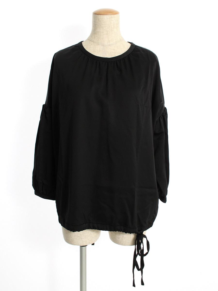 フォクシーニューヨーク collection Tシャツ カットソー 36612 Cupra Satin Novelty Sleeve Top 長袖 40【Aランク】【中古】tn190512