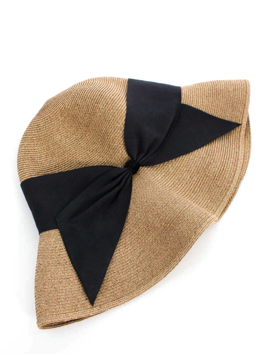 アシーナニューヨーク 麦わら帽子 Risako リボン リボン【Bランク】 【中古】 tn190411