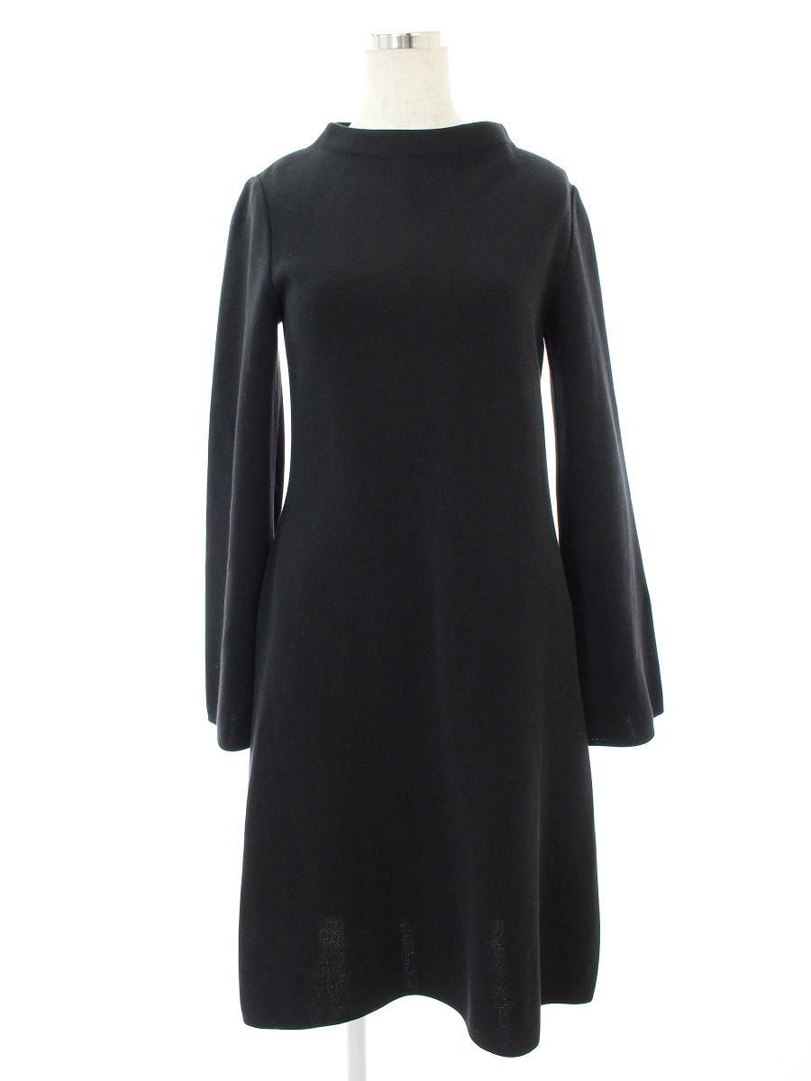 フォクシーブティック ワンピース 37653 Knit Dress Fragrance 無地 長袖 38【Sランク】 【中古】 tn190414
