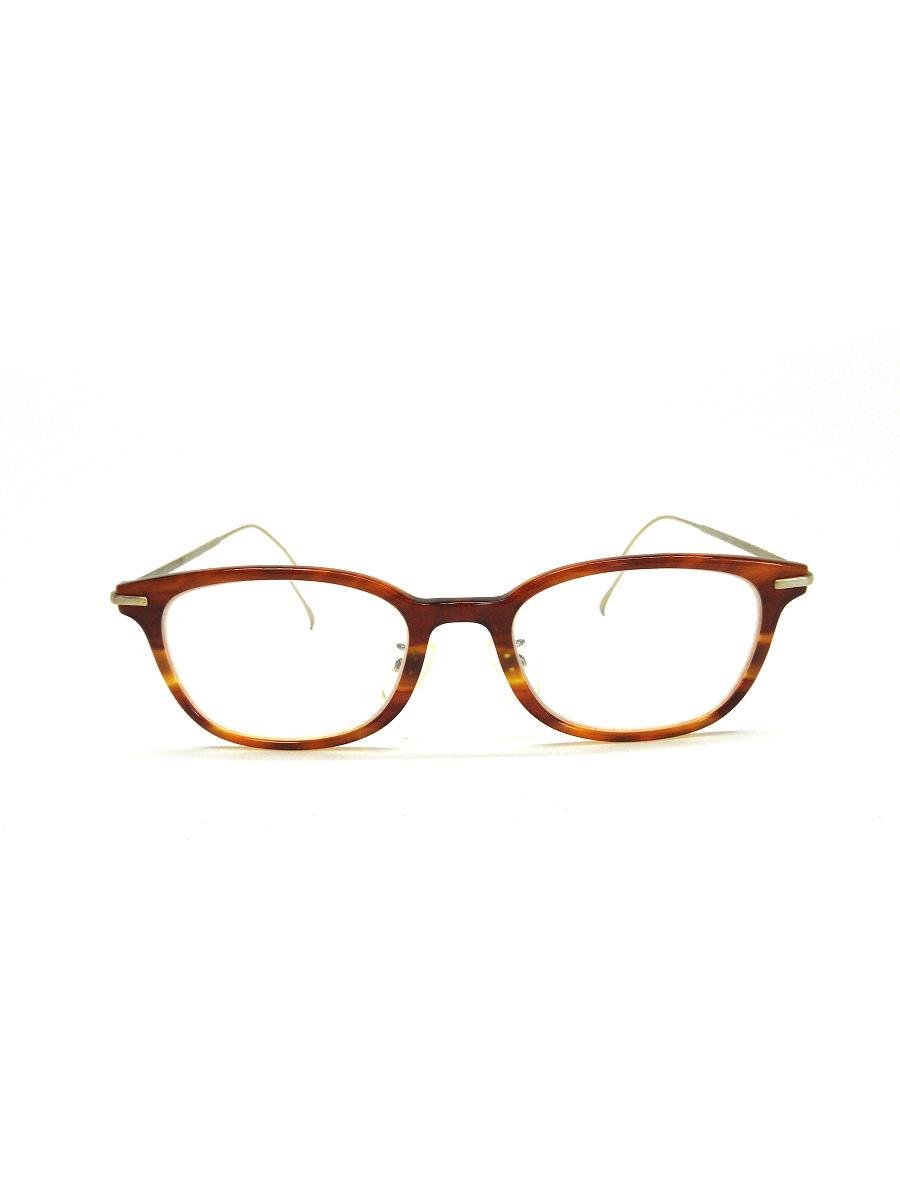 金子眼鏡 メガネ VINTAGE ウェリントン コンビフレーム TITANIUM 総柄【Aランク】 【中古】 tn190418