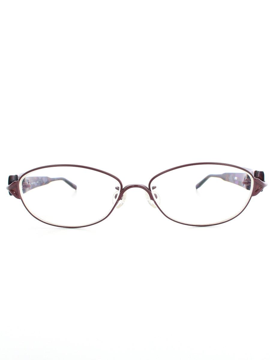 フォーナインズ メガネ 1571 レディース オーバル コンビネーションフレーム【Aランク】【中古】tn190516