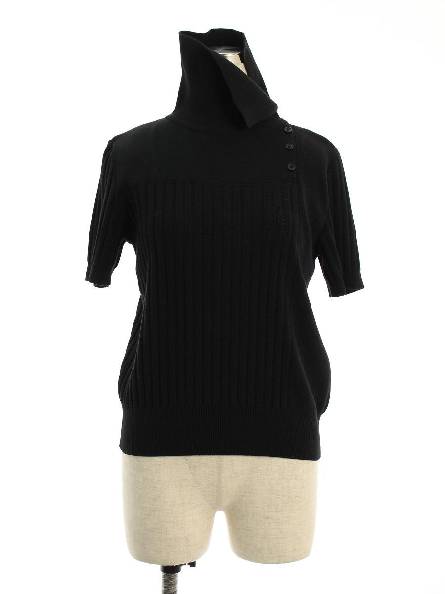 フォクシーブティック ニット セーター 38080 Tops RAINY STETCH ワンポイント 半袖 40【Aランク】【中古】tn190526