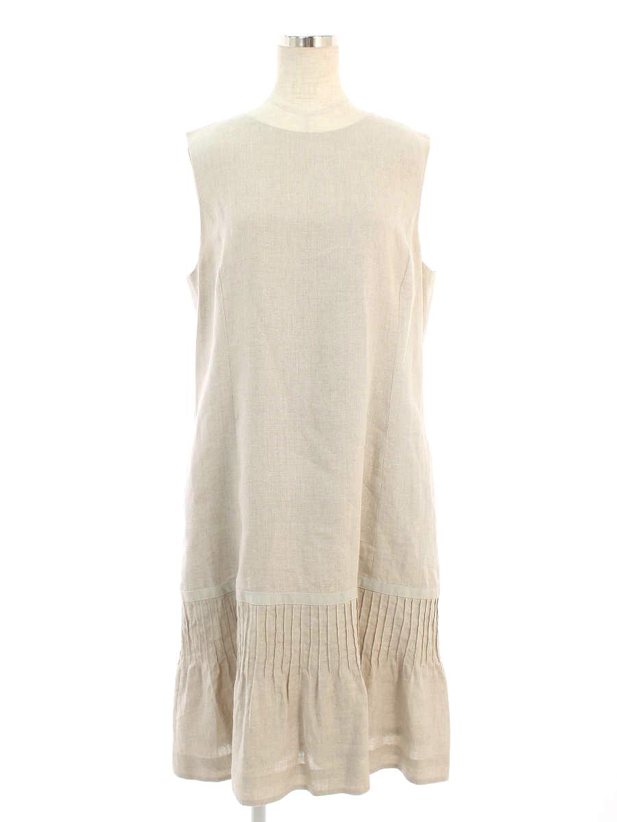 フォクシーブティック ワンピース Multi Pintuck Dress ノースリーブ 42【Aランク】【中古】tn190613
